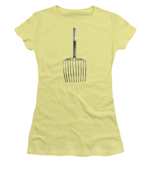 Ensilage Fork Down Women's T-Shirt (Junior Cut) by YoPedro