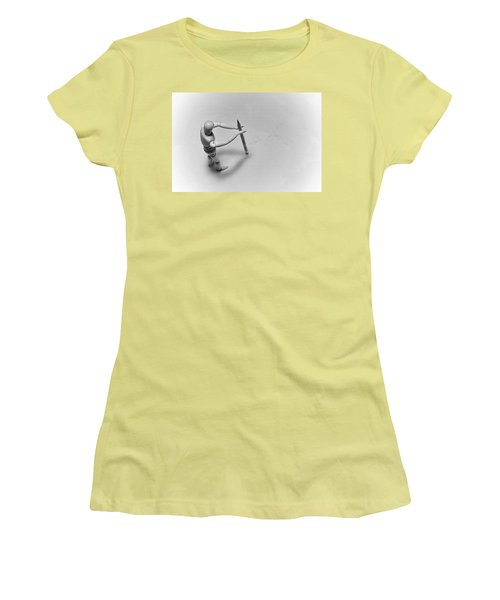 Erasing His Tracks Women's T-Shirt (Athletic Fit)