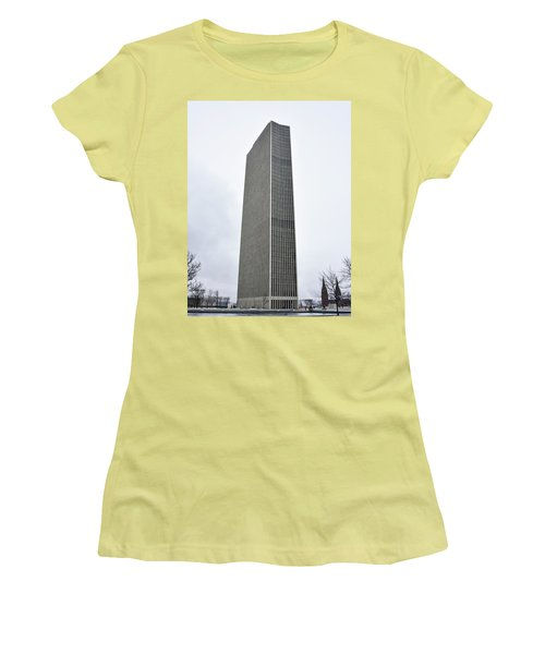 Women's T-Shirt (Junior Cut) featuring the photograph Erastus Corning Tower In Albany New York by Brendan Reals