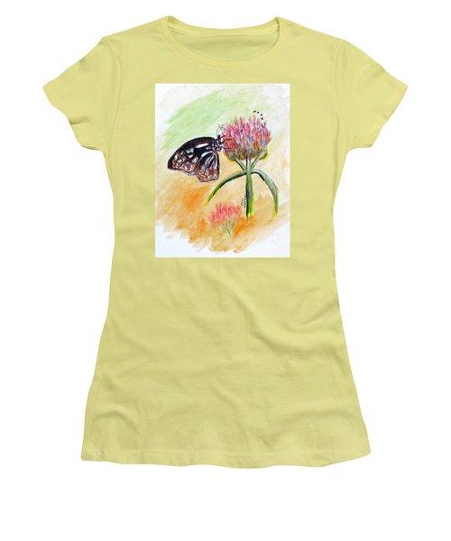 Erika's Butterfly Two Women's T-Shirt (Junior Cut) by Clyde J Kell
