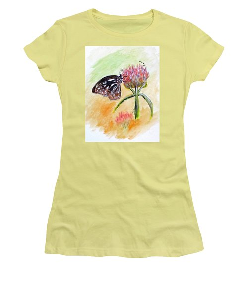 Erika's Butterfly Two Women's T-Shirt (Athletic Fit)