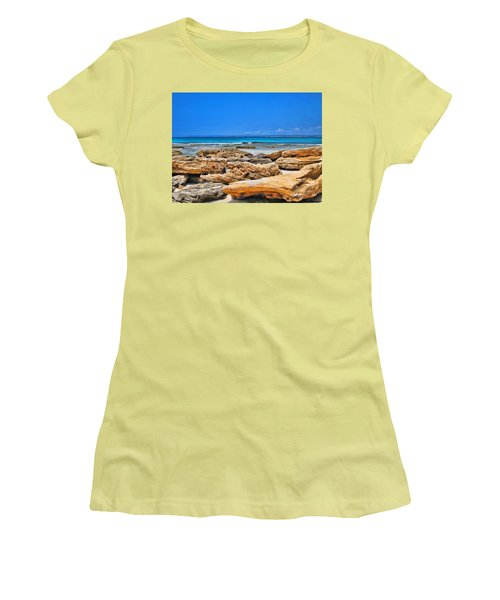 Women's T-Shirt (Junior Cut) featuring the photograph Es Trenc by Andreas Thust