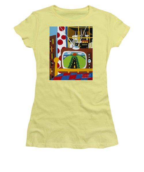 Escape Women's T-Shirt (Junior Cut) by Rojax Art
