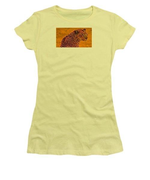 Essence Of Leopard Women's T-Shirt (Junior Cut) by Stephanie Grant