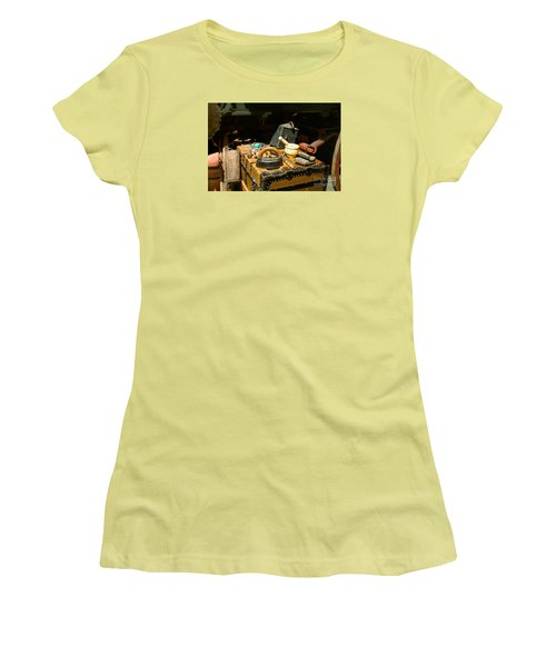 Essentials  From Covered Wagon Women's T-Shirt (Junior Cut) by Linda Phelps