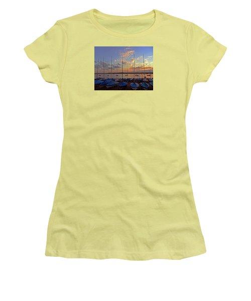 Women's T-Shirt (Junior Cut) featuring the photograph Estuary Evening by Anne Kotan