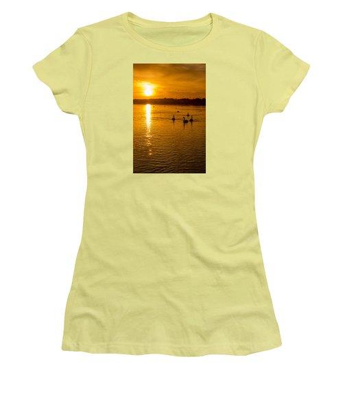 Estuary Sunset Women's T-Shirt (Junior Cut) by Martina Fagan