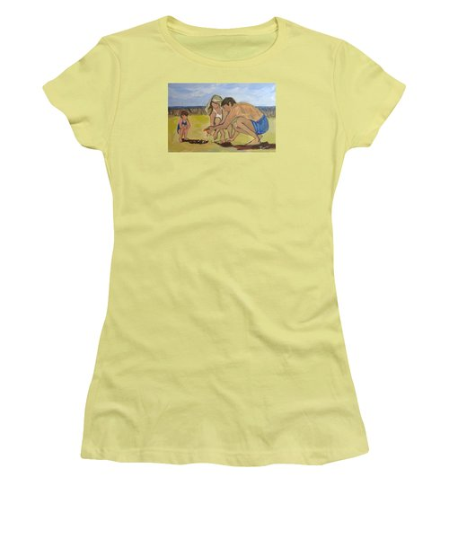 Women's T-Shirt (Junior Cut) featuring the painting Eternal Offering by Betty Pieper