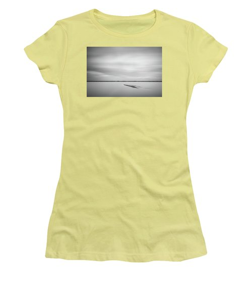 Ethereal Long Exposure Of A Pier In The Lake Women's T-Shirt (Athletic Fit)