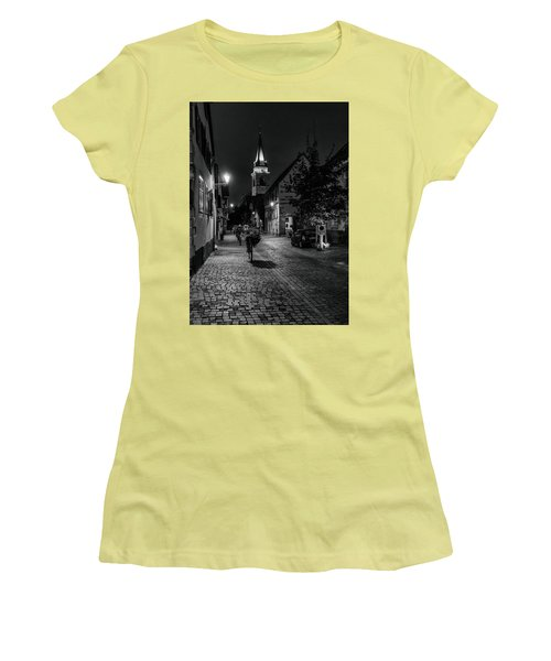 Women's T-Shirt (Junior Cut) featuring the photograph Evening In Bergheim by Alan Toepfer