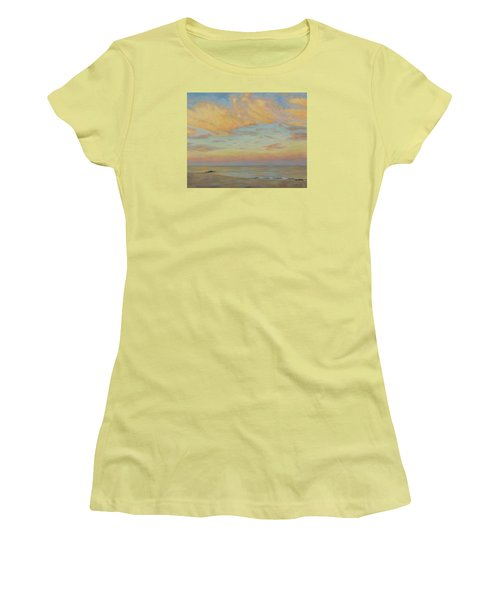 Women's T-Shirt (Junior Cut) featuring the painting Evening by Joe Bergholm