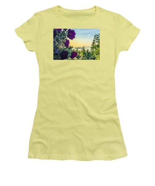Evening Light On Orcas Island Women's T-Shirt (Junior Cut) by William Wyckoff