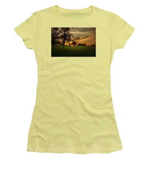 Evening Sun Over Brockwell Park Women's T-Shirt (Junior Cut) by Lenny Carter