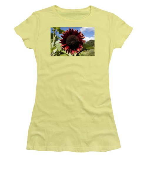 Evening Sun Sunflower #2 Women's T-Shirt (Athletic Fit)