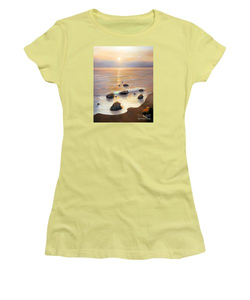 Women's T-Shirt (Junior Cut) featuring the painting Eventide by Michael Rock