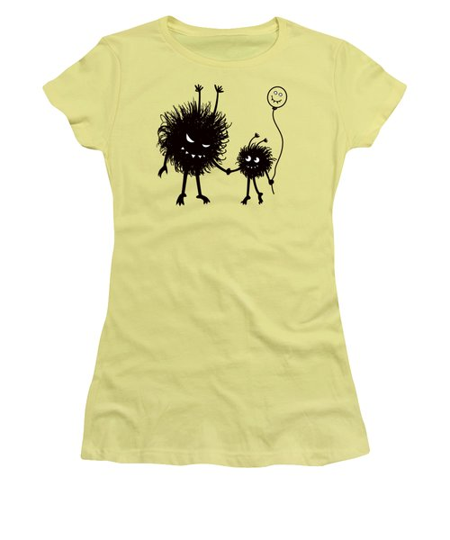 Evil Bug Mother And Child Women's T-Shirt (Athletic Fit)