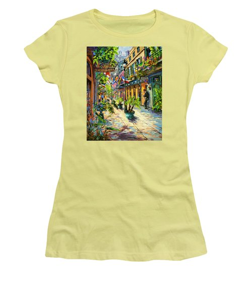 Exchange Alley Women's T-Shirt (Junior Cut) by Dianne Parks