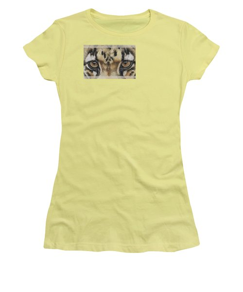 Eye-catching Clouded Leopard Women's T-Shirt (Athletic Fit)