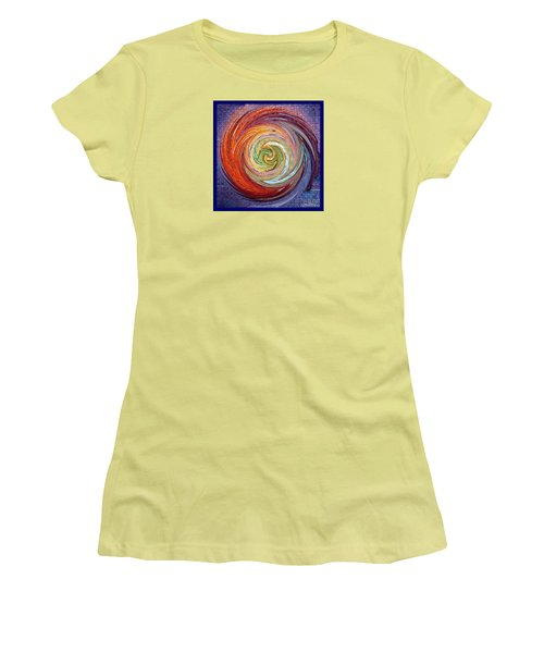 Eye Of The Storm Women's T-Shirt (Junior Cut) by Sue Melvin
