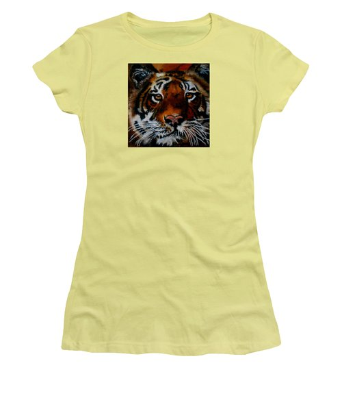 Face Of A Tiger Women's T-Shirt (Athletic Fit)