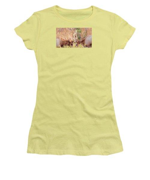 Face Off Women's T-Shirt (Junior Cut) by Todd Kreuter