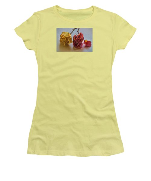 Faded Flowers Women's T-Shirt (Athletic Fit)