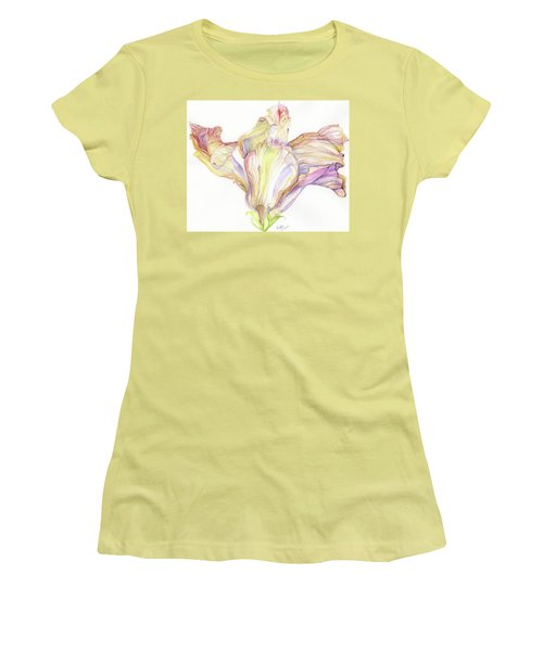 Faded Hibiscus Women's T-Shirt (Junior Cut) by Nadine Dennis