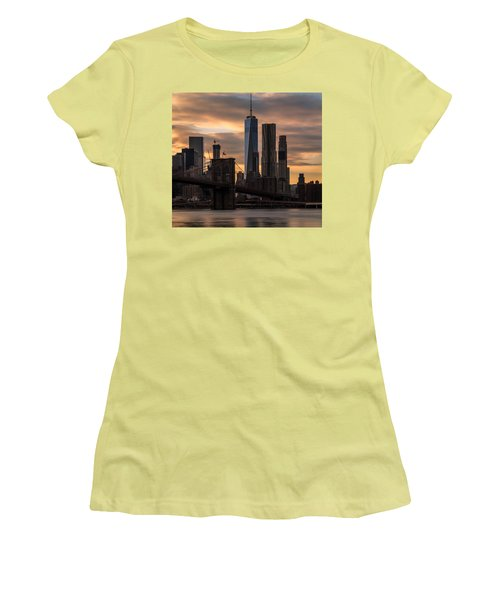 Women's T-Shirt (Junior Cut) featuring the photograph Fading Light  by Anthony Fields