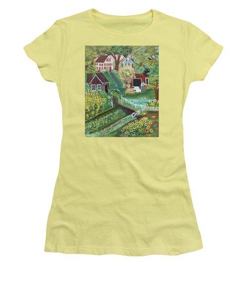 Fairview Farm Women's T-Shirt (Junior Cut) by Virginia Coyle