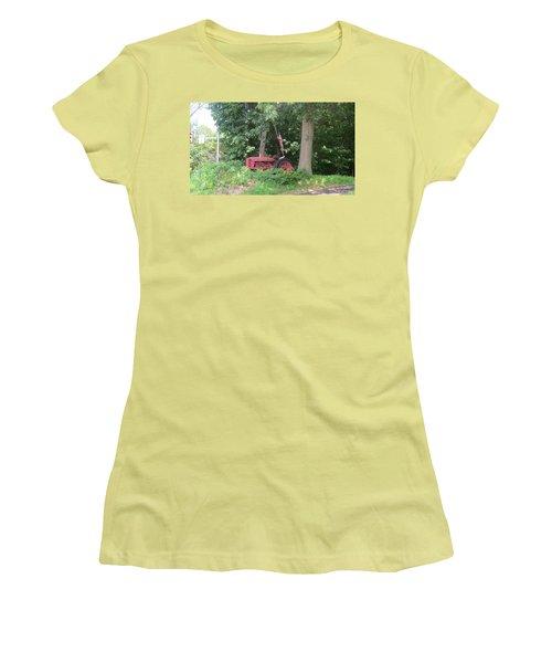 Faithful American Tractor Women's T-Shirt (Junior Cut) by Jeanette Oberholtzer