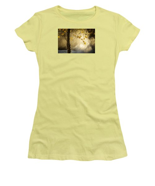 Fall And Fog Women's T-Shirt (Junior Cut) by Celso Bressan