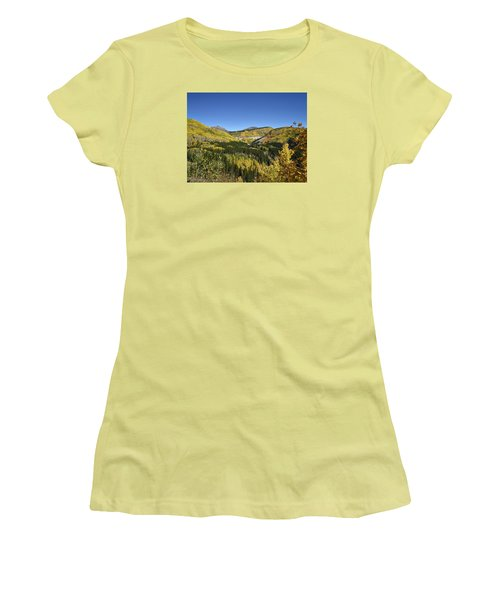 Fall Aspens In San Juan County In Colorado Women's T-Shirt (Athletic Fit)