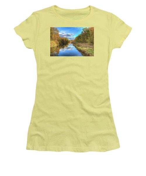 Fall At Brunswick Lake  Women's T-Shirt (Junior Cut) by Brent Durken