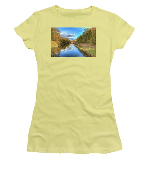 Fall At Brunswick Lake  Women's T-Shirt (Athletic Fit)