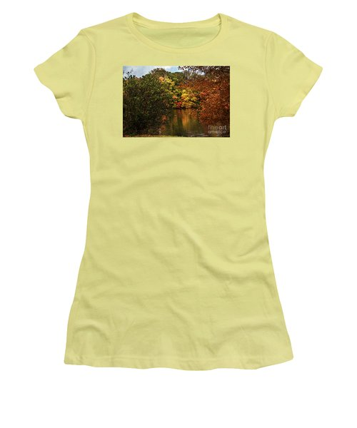 Fall At The Lake Women's T-Shirt (Athletic Fit)