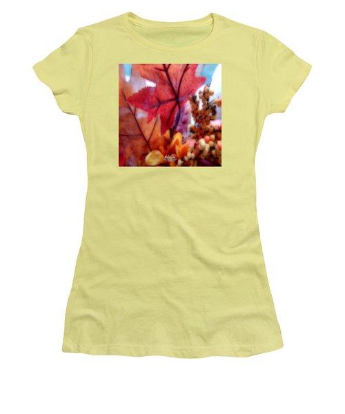 Fall Colors # 6059 Women's T-Shirt (Junior Cut) by Barbara Tristan