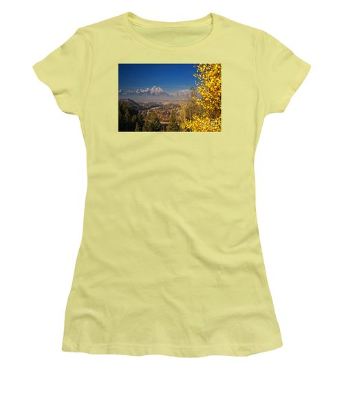 Fall Colors At The Snake River Overlook Women's T-Shirt (Junior Cut) by Sam Antonio Photography