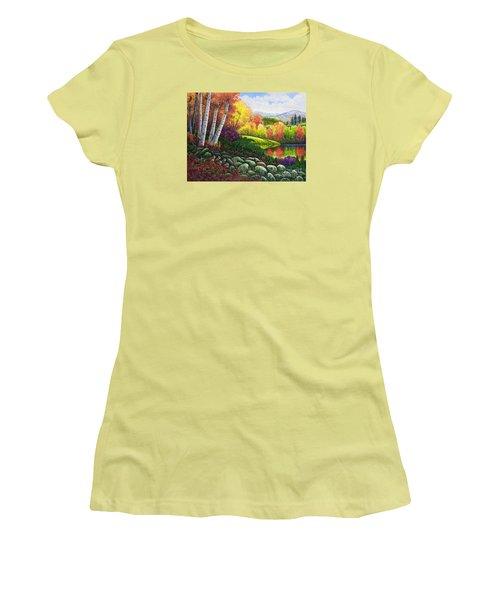 Fall Colors Women's T-Shirt (Junior Cut) by Michael Frank