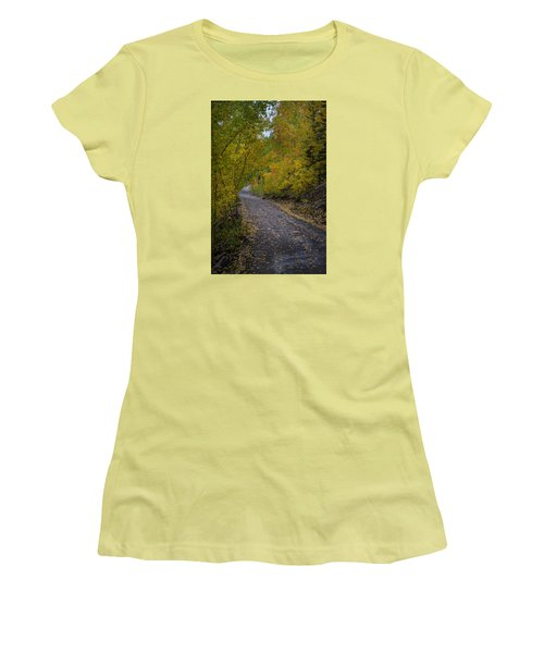 Fall Colors On Engineer Pass Women's T-Shirt (Athletic Fit)