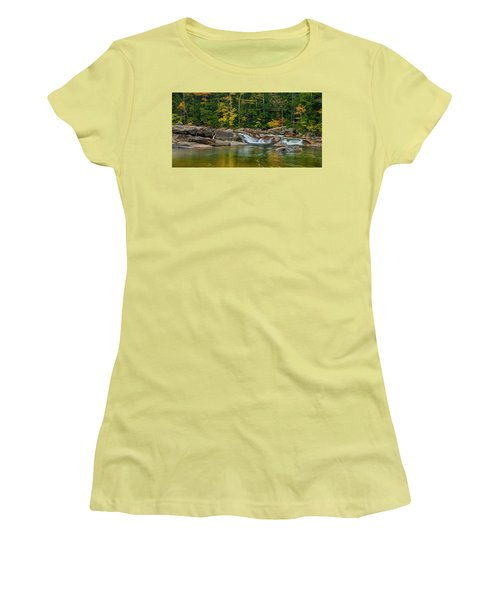 Fall Foliage In Autumn Along Swift River In New Hampshire Women's T-Shirt (Junior Cut) by Ranjay Mitra