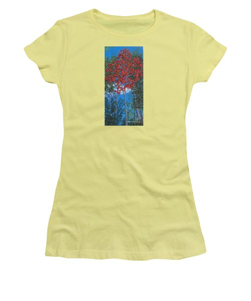Fall In Asheville Women's T-Shirt (Junior Cut) by Anne Marie Brown