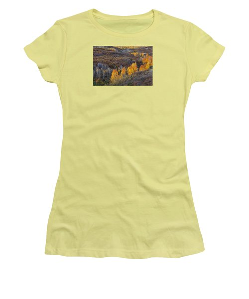Fall In Line Women's T-Shirt (Athletic Fit)