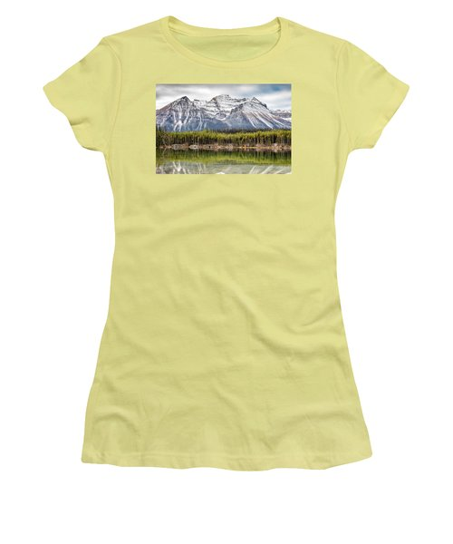 Fall In The Canadian Rockies Women's T-Shirt (Junior Cut) by Pierre Leclerc Photography
