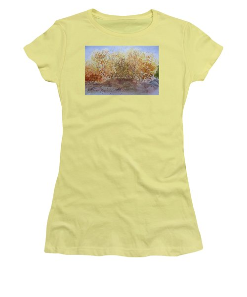 Women's T-Shirt (Junior Cut) featuring the painting Fall In The Tejas High Country by Joel Deutsch