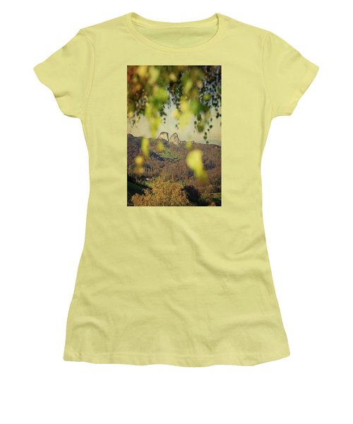 Fall-ing Leaves Women's T-Shirt (Athletic Fit)
