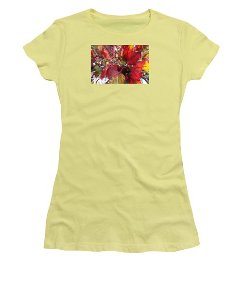 Fall Leaves Design 1 Women's T-Shirt (Athletic Fit)