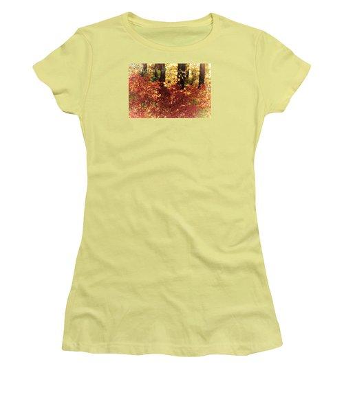 Fall Women's T-Shirt (Junior Cut) by Loni Collins
