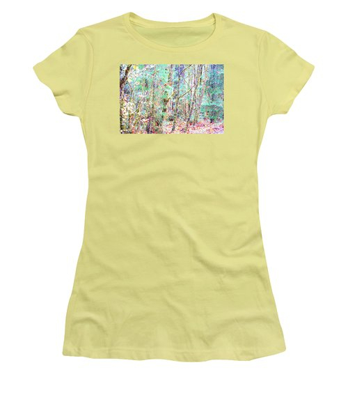 Fall Oregon Forest Women's T-Shirt (Athletic Fit)