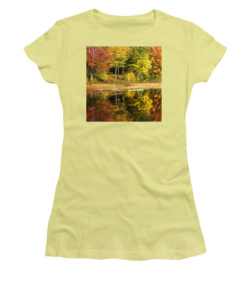 Women's T-Shirt (Junior Cut) featuring the photograph Fall Reflection by Chad Dutson