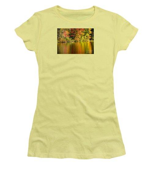 Fall Reflections Women's T-Shirt (Junior Cut) by Alana Ranney